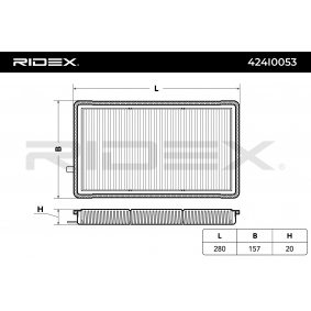 RIDEX Filtro de aire acondicionado 424I0053
