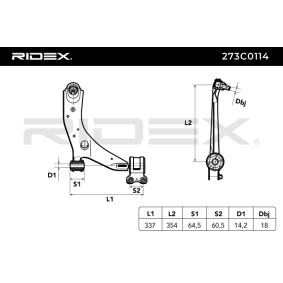 3 (BK) RIDEX Barra oscilante suspensión de ruedas 273C0114