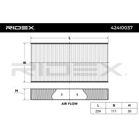 Filtro habitáculo 424I0037 RIDEX