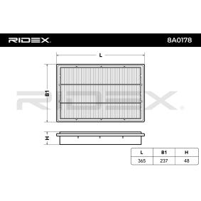 Elemento filtro de aire 8A0178 RIDEX