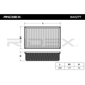 RIDEX 8A0277 Luftfilter OEM - 5Q0129620D AUDI, PORSCHE, SEAT, SKODA, VW, VAG, WEHRLE&S, CUPRA günstig