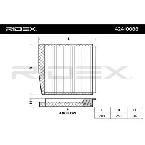 RIDEX Filter, Innenraumluft 30630755 für VOLVO bestellen