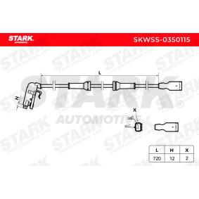 4545C4 für PEUGEOT, CITROЁN, Sensor, Raddrehzahl STARK (SKWSS-0350115) Online-Shop