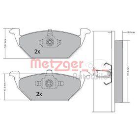 Bremsbelagsatz, Scheibenbremse METZGER Art.No - 1170027 kaufen