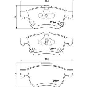Bremsbelagsatz, Scheibenbremse BREMBO Art.No - P 23 155 OEM: 77366915 für FIAT, ALFA ROMEO, LANCIA kaufen