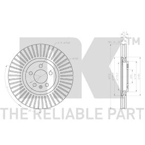 Bremsscheibe NK Art.No - 3147165 OEM: 6R0615301B für VW, AUDI, SKODA, SEAT, ALFA ROMEO kaufen