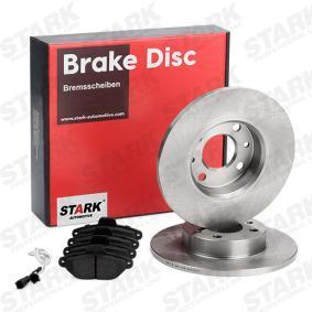 PANDA (169) STARK Brake pads and rotors kit SKBK-1090041