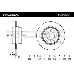 RIDEX Scheibenbremsen (82B0122)