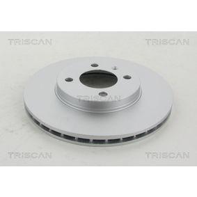 Bremsscheibe TRISCAN Art.No - 8120 10105C OEM: 6N0615301D für VW, MERCEDES-BENZ, AUDI, SKODA, SEAT kaufen