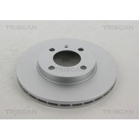 Bremsscheibe TRISCAN Art.No - 8120 29103C OEM: 6N0615301G für VW, AUDI, SKODA, SEAT kaufen