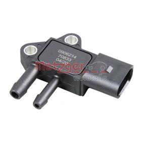 METZGER Abgasdrucksensor 0906214