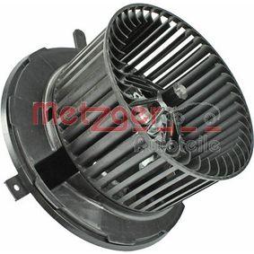 Interior Blower METZGER Art.No - 0917121 OEM: 1K1819015E for VW, AUDI, VOLVO, SKODA, SEAT buy