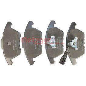 METZGER Bremsbelagsatz, Scheibenbremse 1K0698151E für VW, AUDI, FORD, PEUGEOT, SKODA bestellen
