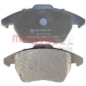 METZGER 1170007 Kit de plaquettes de frein, frein à disque OEM - 3C0698151D AUDI, SEAT, SKODA, VW, VAG, QUINTON HAZELL, BREMBO, METELLI, A.B.S., BRINK, VW (FAW), OEMparts, SKODA (SVW) à bon prix