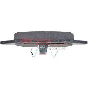 METZGER Kit de plaquettes de frein, frein à disque (1170007) à bas prix