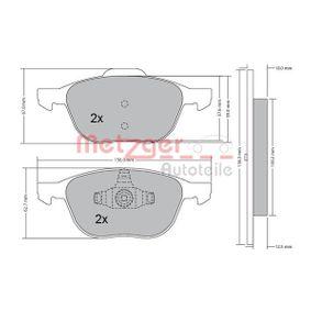 Bremsbelagsatz, Scheibenbremse METZGER Art.No - 1170008 OEM: 30681739 für FORD, VOLVO, CITROЁN, MAZDA kaufen