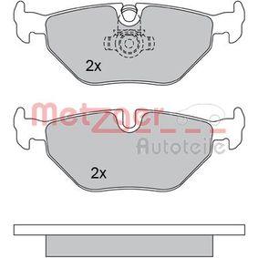 Bremsbelagsatz, Scheibenbremse METZGER Art.No - 1170014 kaufen