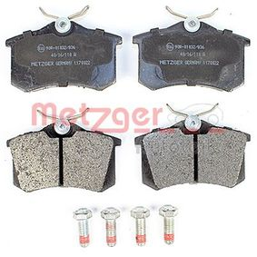 Bremsbelagsatz, Scheibenbremse METZGER Art.No - 1170022 OEM: 7701206784 für VW, AUDI, FORD, RENAULT, PEUGEOT kaufen