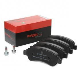 Brake Pad Set, disc brake METZGER Art.No - 1170026 OEM: 425330 for PEUGEOT, CITROЁN, VOLVO, DS, PIAGGIO buy