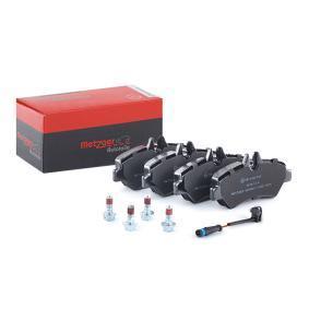 Bremsbelagsatz, Scheibenbremse METZGER Art.No - 1170037 OEM: A0044206920 für VW, MERCEDES-BENZ kaufen
