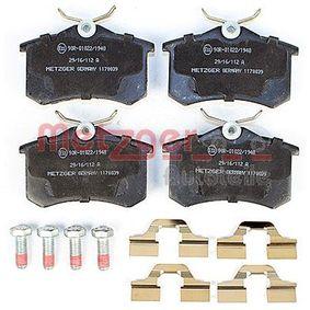 METZGER Bremsbelagsatz, Scheibenbremse 6025371650 für VW, AUDI, FORD, RENAULT, SKODA bestellen