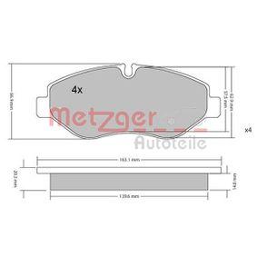 Bremsbelagsatz, Scheibenbremse METZGER Art.No - 1170040 OEM: 2E0698151 für VW, MERCEDES-BENZ, AUDI, SKODA, SEAT kaufen