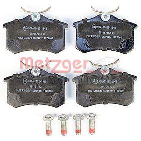 METZGER Bremsbelagsatz, Scheibenbremse 8E0698451L für VW, AUDI, FIAT, PEUGEOT, SKODA bestellen