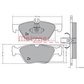 Bremsbelagsatz, Scheibenbremse METZGER Art.No - 1170065 kaufen
