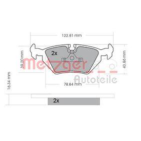 Bremsbelagsatz, Scheibenbremse METZGER Art.No - 1170075 OEM: 34211164501 für BMW, CITROЁN, MINI, ROVER, MG kaufen