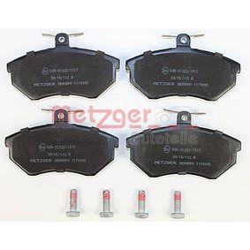 METZGER Bremsbelagsatz, Scheibenbremse 357698151D für VW, AUDI, SKODA, SEAT bestellen