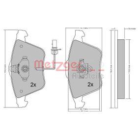 Bremsbelagsatz, Scheibenbremse METZGER Art.No - 1170099 kaufen