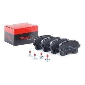 Bremsbelagsatz, Scheibenbremse METZGER Art.No - 1170113 OEM: 8K0698451D für VW, AUDI, SKODA, SEAT kaufen