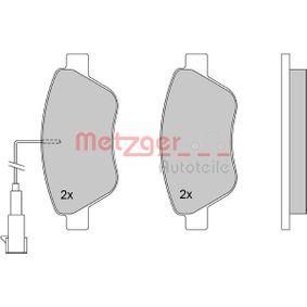 Bremsbelagsatz, Scheibenbremse METZGER Art.No - 1170117 kaufen