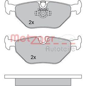 Bremsbelagsatz, Scheibenbremse METZGER Art.No - 1170120 OEM: 34211163395 für BMW, MINI, SAAB, ROVER, MG kaufen