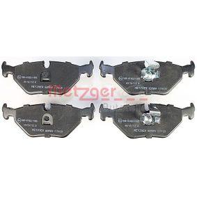 METZGER Bremsbelagsatz, Scheibenbremse 34211163395 für BMW, MINI, SAAB, ROVER, MG bestellen