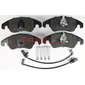 Bremsbelagsatz, Scheibenbremse METZGER Art.No - 1170127 OEM: 8K0698151H für VW, AUDI, SKODA, SEAT, PORSCHE kaufen