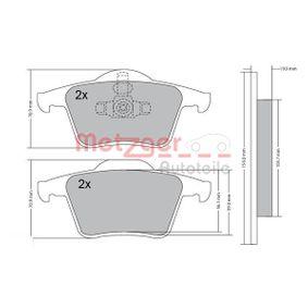 Bremsbelagsatz, Scheibenbremse METZGER Art.No - 1170180 OEM: 274285 für AUDI, VOLVO, SATURN kaufen