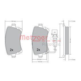 Bremsbelagsatz, Scheibenbremse METZGER Art.No - 1170190 OEM: 4B3698451A für VW, AUDI, SKODA, SEAT kaufen
