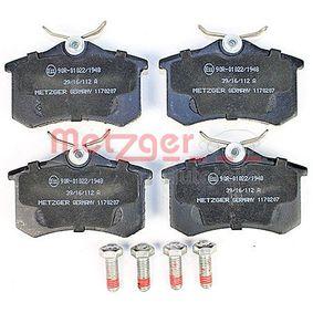 METZGER Bremsbelagsatz, Scheibenbremse 440603530R für VW, AUDI, FORD, RENAULT, PEUGEOT bestellen