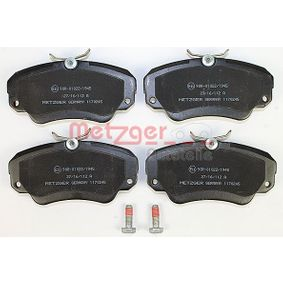 Bremsbelagsatz, Scheibenbremse METZGER Art.No - 1170245 OEM: 1605004 für OPEL, CHEVROLET, SAAB, CADILLAC, VAUXHALL kaufen