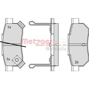 Комплект спирачно феродо, дискови спирачки METZGER Art.No - 1170251 OEM: GBP90316AF за HONDA, SKODA, ROVER, MG купете