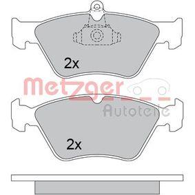 Bremsbelagsatz, Scheibenbremse METZGER Art.No - 1170279 OEM: 90443873 für OPEL, SUZUKI, CHEVROLET, SAAB, VAUXHALL kaufen