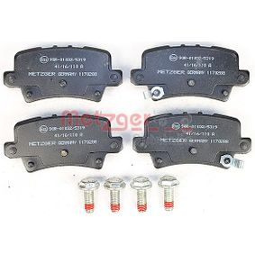 METZGER Brake pad set 1170288