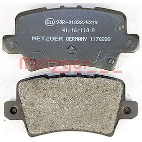 CIVIC VIII Hatchback (FN, FK) METZGER Brake pad set disc brake 1170288