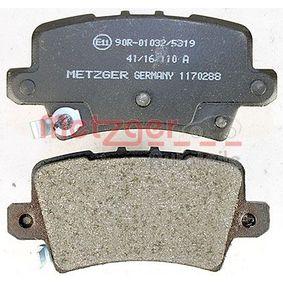 HONDA CIVIC VIII Hatchback (FN, FK) METZGER Fékpofakészlet 1170288 vesz