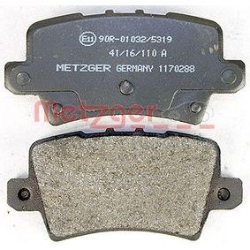 Fékpofakészlet Art. No: 1170288 gyártó METZGER mert HONDA CIVIC jutányos