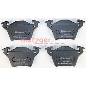 Bremsbelagsatz, Scheibenbremse METZGER Art.No - 1170331 OEM: A0004214210 für MERCEDES-BENZ kaufen