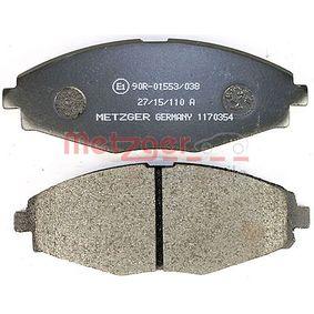 MATIZ (M200, M250) METZGER Pedales y cubre pedales 1170354