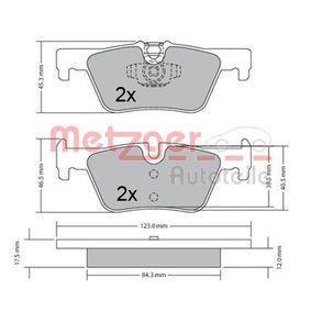 Bremsbelagsatz, Scheibenbremse METZGER Art.No - 1170368 OEM: 34216873093 für BMW, FORD, MINI, ALPINA kaufen