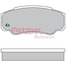 Bremsbelagsatz, Scheibenbremse METZGER Art.No - 1170381 OEM: 9949408 für FIAT, PEUGEOT, CITROЁN, ALFA ROMEO, LANCIA kaufen
